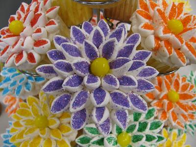 Marshmellow Flower Bouquet Cupcakes