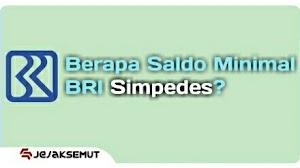 Saldo Minimal BRI Simpedes setelah Penarikan dan Transfer
