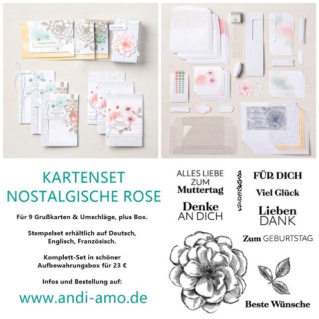 Stampin Up Kartenset Nostalgische Rose Produktlinie