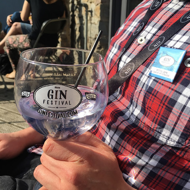 Drinking Gin in the sunshine at the Gin Festival 2016