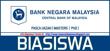 Biasiswa Bank Negara Malaysia (BNM) Masters PhD