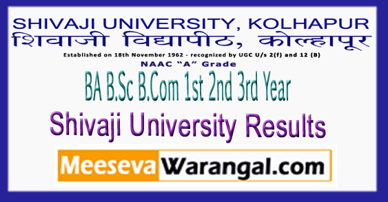 Shivaji University BA B.Sc B.Com 1st 2nd 3rd Year Results 2018
