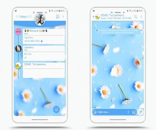 White Flowers Theme For YOWhatsApp & Fouad WhatsApp By Mary Silva