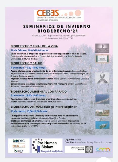 """Seminarios de invierno: """"Bioderecho '21"""""""