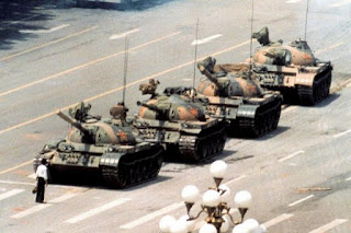 The photographs of the Tiananmen Tank Man
