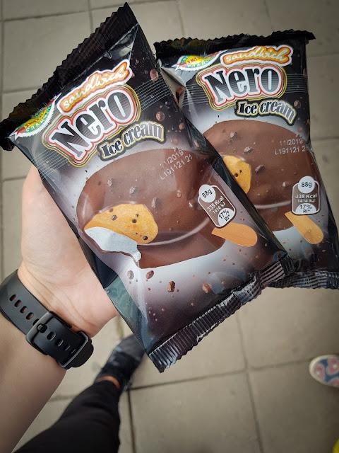 Having Nero ice cream in Sofia, Bulgaria