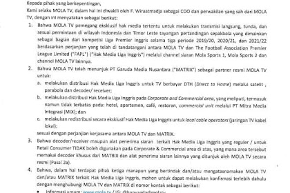 Mola Tv bekerja sama dengan Matrix Garuda