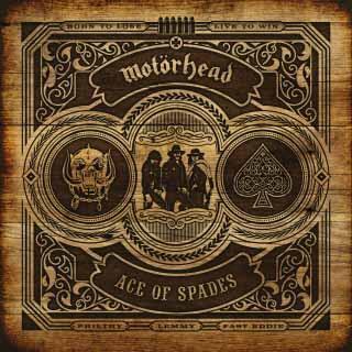 """Το εξώφυλλο της επανακυκλοφορίας του δίσκου των Motörhead """"Ace of Spades"""""""