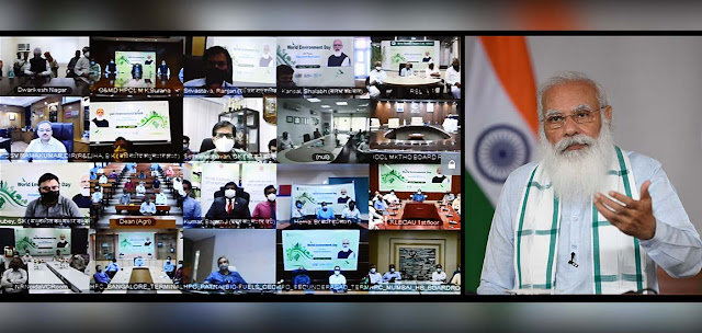 Prime Minister Shri Narendra Modi addressed the World Environment Day