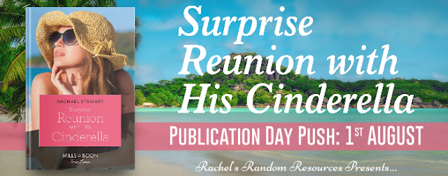 Surprise Reunion with His Cinderella by Rachael Stewart blog tour banner
