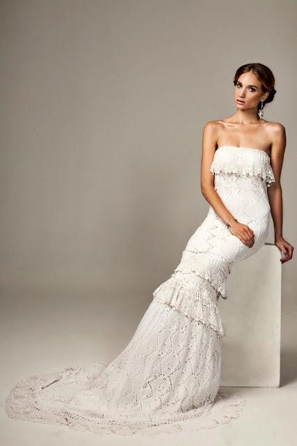 suknia szydelkowa