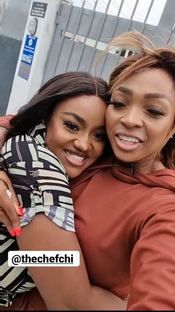 Finally! Chioma and Davido's sister, Sharon Adeleke Reconcile after years of Fighting (Photos)