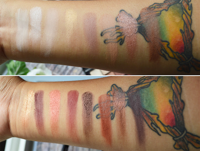 NyxUltimate Shadow Palette Warm Neutrals di Nyx con swatches