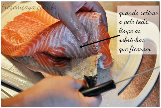 sashimi de salmão receita
