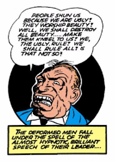 Batman (1940) #3 Page 19 Panel 7: The ugliest man on earth pledges to make war on beauty.