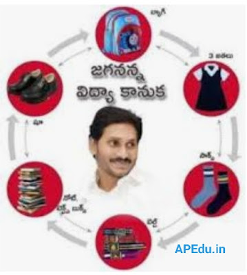 Jagananna Vidya Kanuka - Making, Arrangemt of student Kits - Instructions, Check List, Kit Tag/ID card