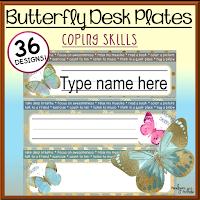 Butterfly Desk Plates