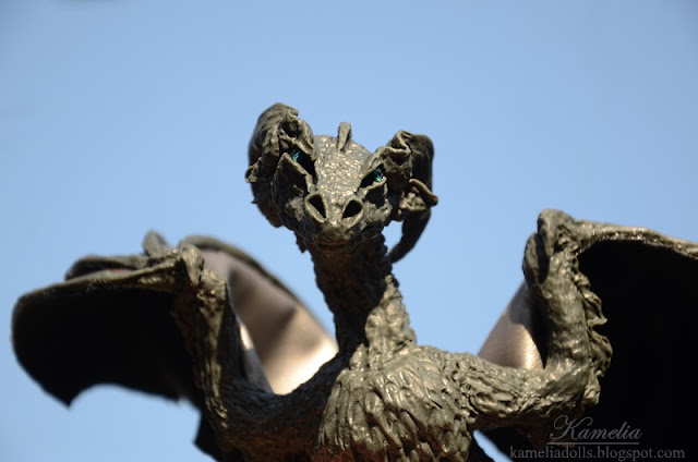 How to make a dragon from modeline clay