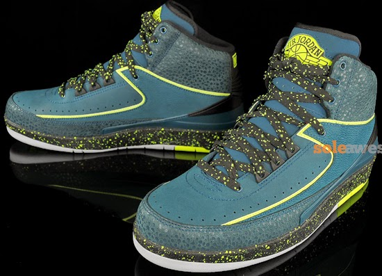 ad1fb03689b Air Jordan 2 Retro Nightshade Volt Ice-Black-Pure Platinum May 2014