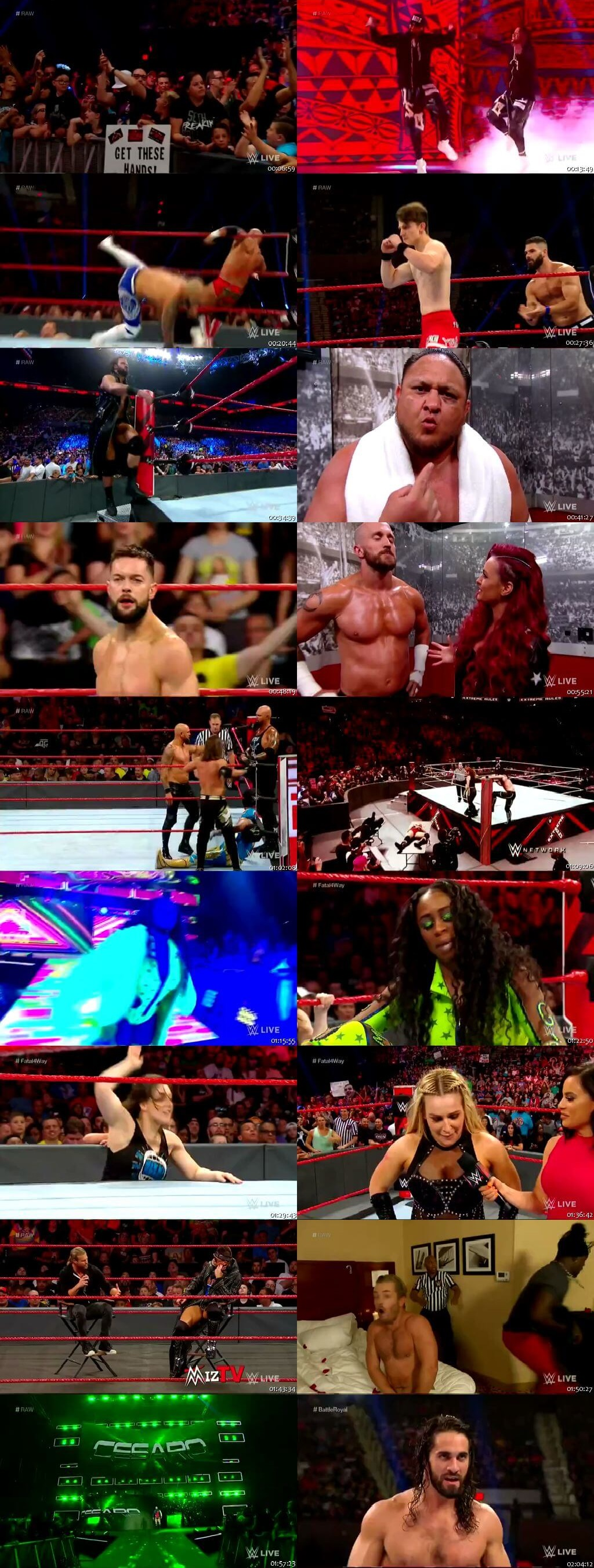 Screen Shot Of Wrestling TV Show WWE Monday Night Raw 15th July Watch Online Free Download