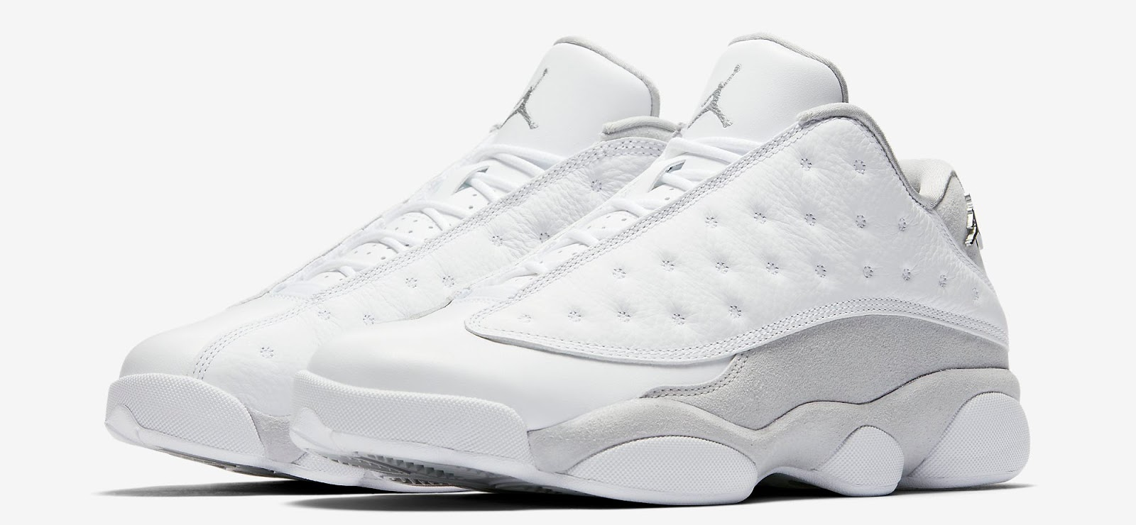 024624b2407 ... silver pure platinum 07899 accfd; reduced fresh for the summer this air jordan  13 retro low comes in a clean white