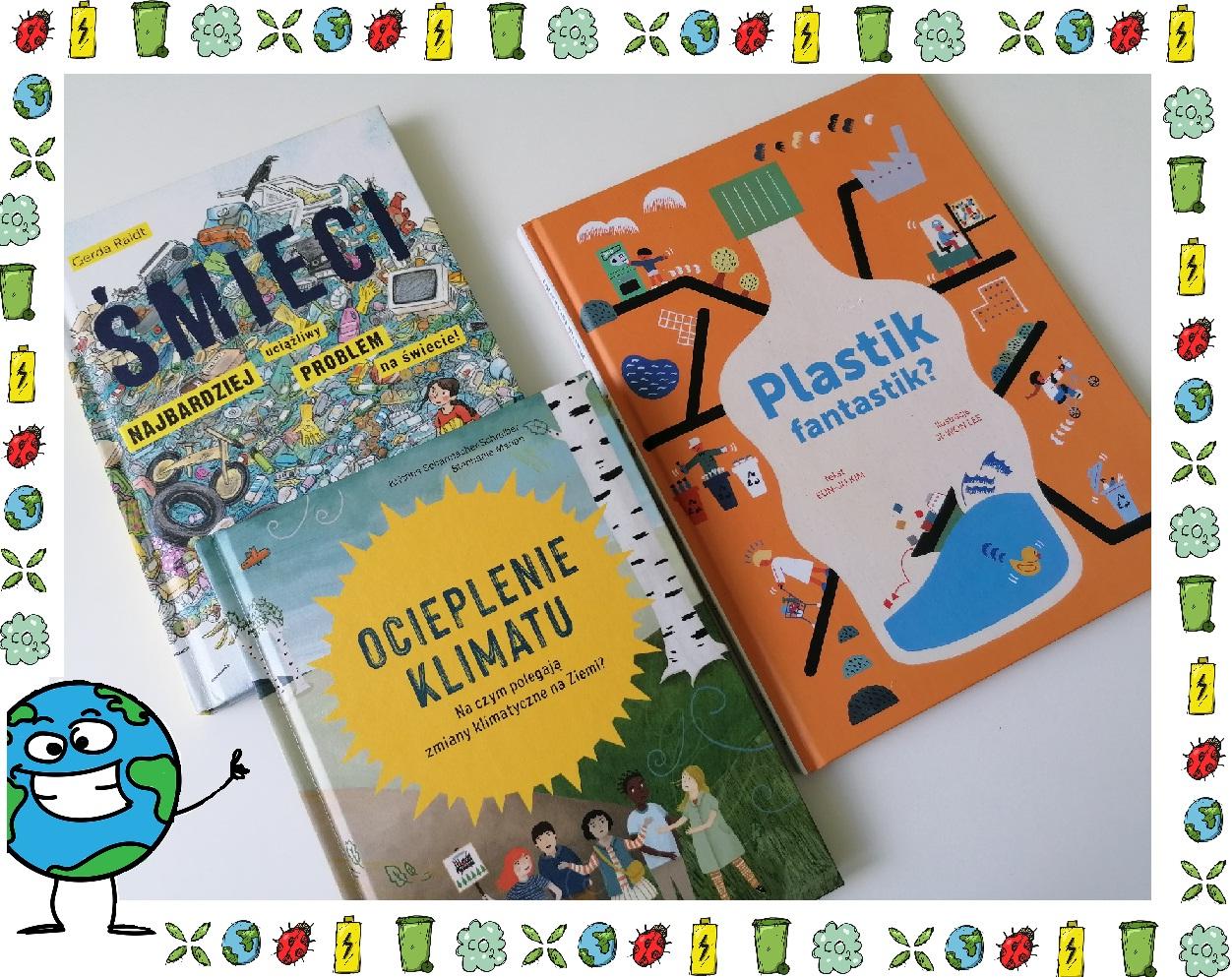 książki, klimat, śmieci, plastik fantasitik
