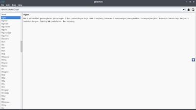 instal kamus di linux