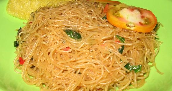Kuliner menu diet 200 Kalori  Karbohidrat  Bihun Jagung Udang Sabe