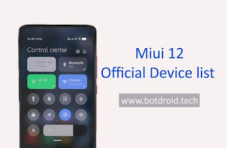 Miui 12 Device List Official and Release Date