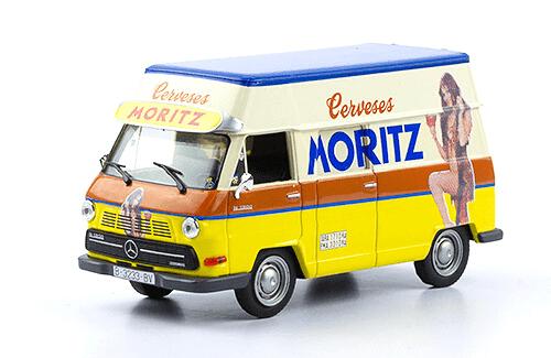 mercedes-benz 1000 1968 cerveza moritz 1:43 vehículos de reparto y servicio salvat