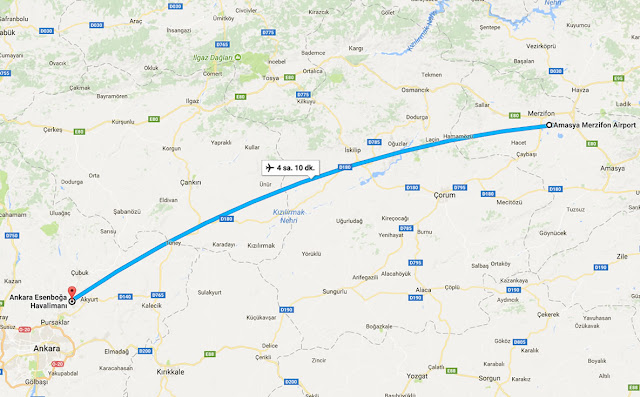 Amasya'dan Ankara'ya uçak bileti