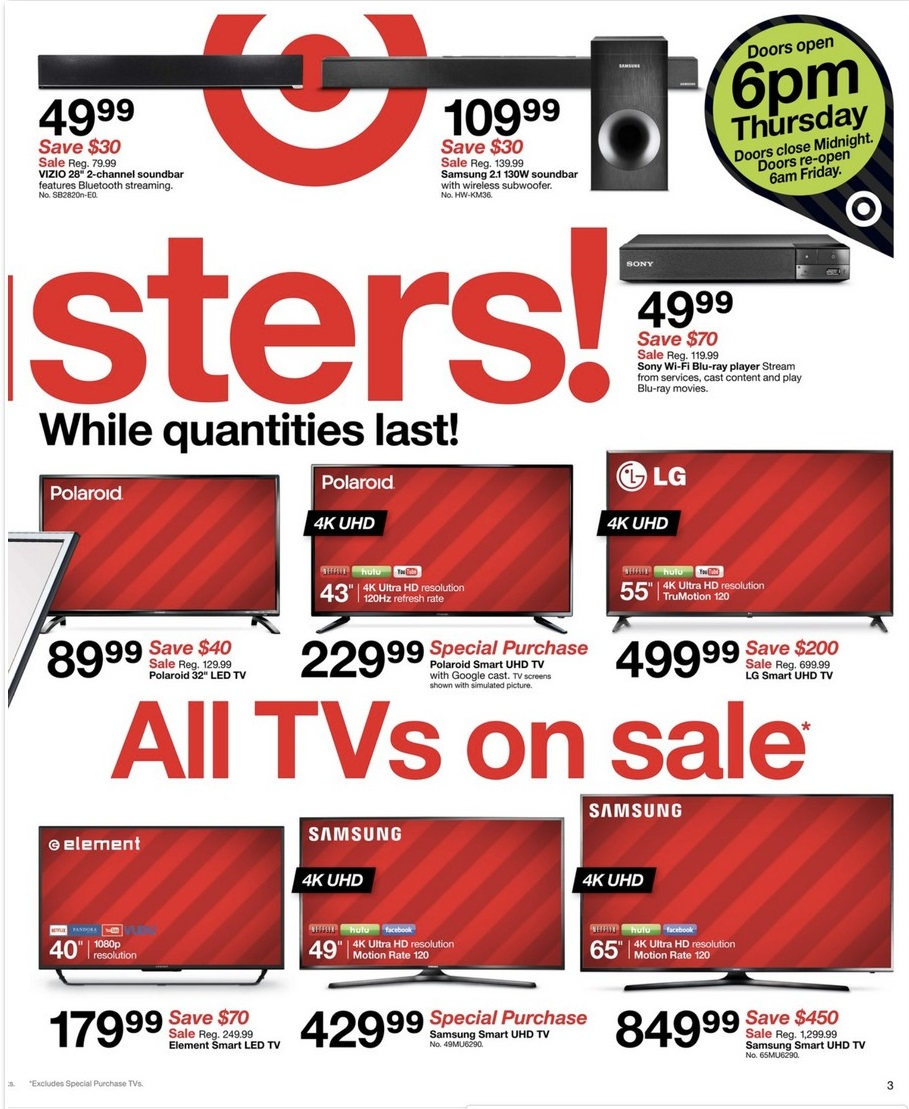 Target Black Friday 2017 Ad Flyer, Store Hours