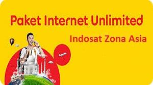 Paket Internet Unlimited Indosat Zona Asia