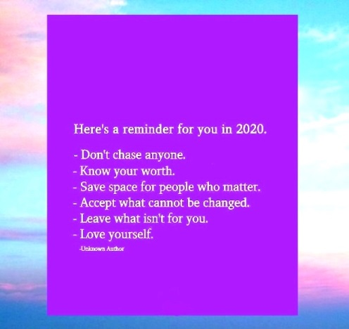 Some great advice for 2020 - all of us need to start the year with these tips. #newyearquotes #lifequotes