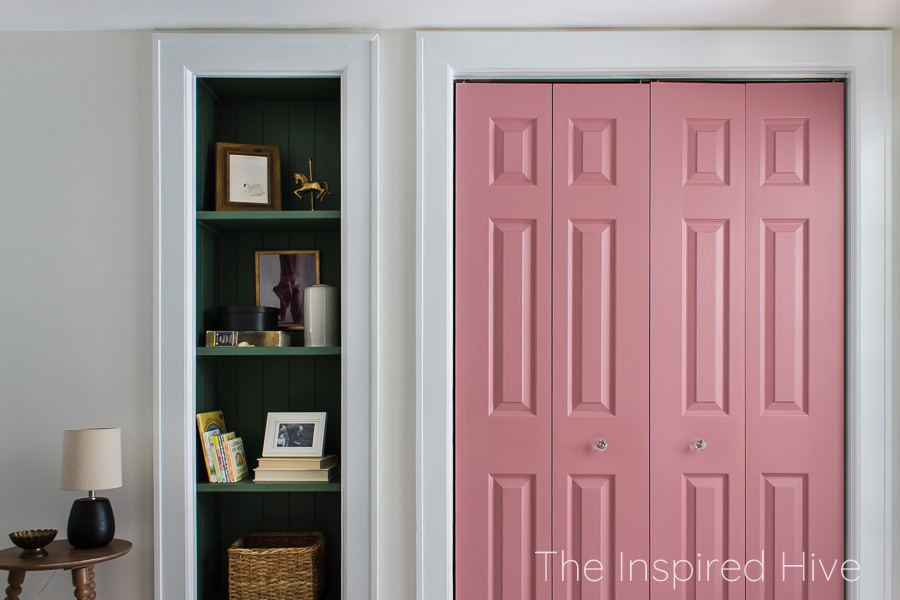 Pink and green baby girl's nursery
