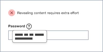 punto que comunica la información necesaria en la casilla password