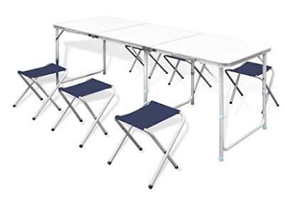 Tavolo da campeggio per 6 persone con sedie