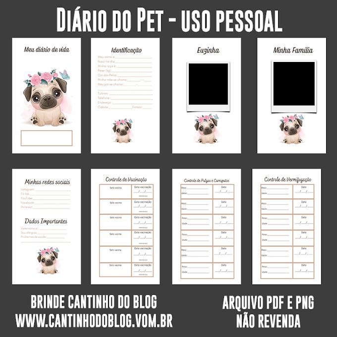 Diário do Pet para seu uso pessoal
