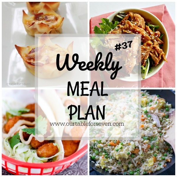 Weekly Meal Plan #37