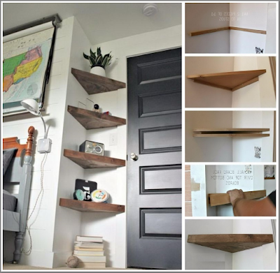 diy shelves wall Corner
