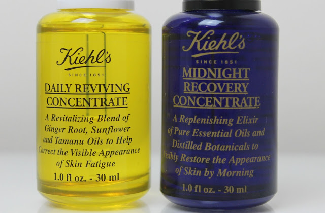 A picture of Kiehl's Daily Reviving Concentrate and Kiehl's Midnight Recovery Concentrate