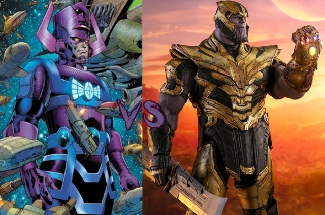 Scared Moments of Mad Titan Thanos in Marvel(Galactus)