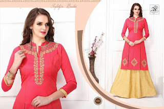 RUDRA WITH SKIRT KURTIS KURTA TOPS WHOLESALER LOWEST PRICE SURAT GUJARAT