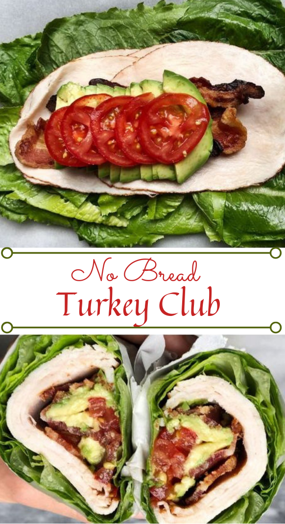 No Bread Turkey Club #whole30 #diet #paleo #healthyrecipe #turkey