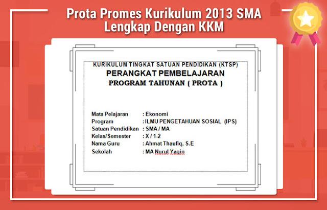 Prota Promes Kurikulum 2013 SMA Lengkap Dengan KKM