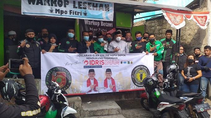 Komunitas Ojol di Sukmajaya Dukung Idris-Imam