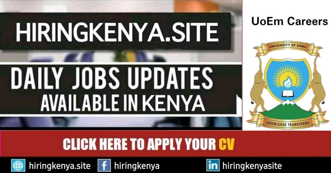 University of Embu Careers Announced Latest Job Openings In Kenya