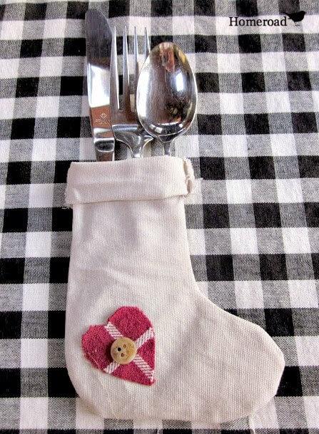 How to Make Flatware Stockings