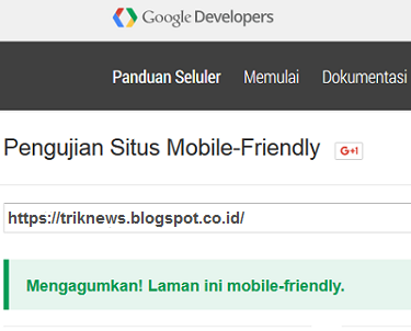 Cara Mengetahui Seo Mobille Friendly Template Blog