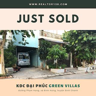 bán đất nền khu dân cư đại phúc green villas bình chánh
